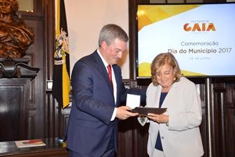 Câmara Municipal de Gaia distingue Fundação