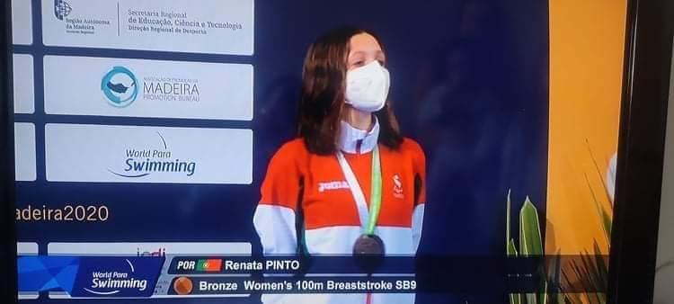Atleta da ADADA medalhada no Campeonato Europeu de Natação Adaptada