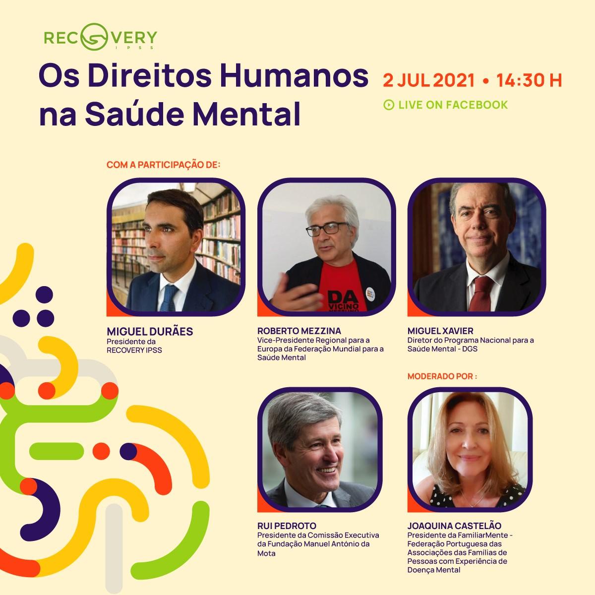 RECOVERY IPSS promove Webinar sobre Saúde Mental
