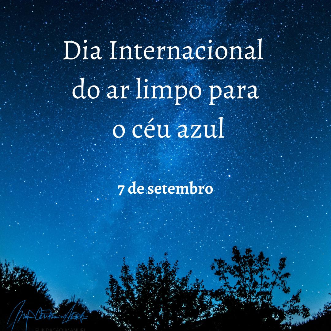 Dia Internacional do Ar limpo para o Céu azul
